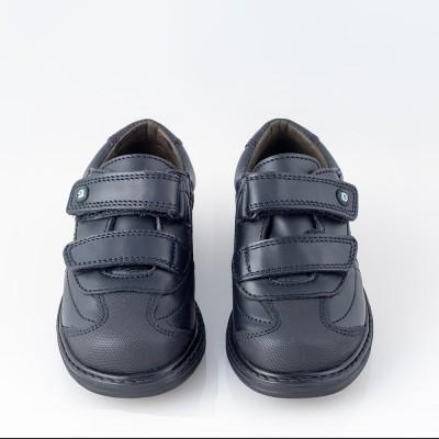 Zapato colegial velcro azul. Gorila