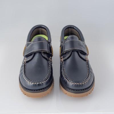 Zapato naútico azul marino velcro Gorila