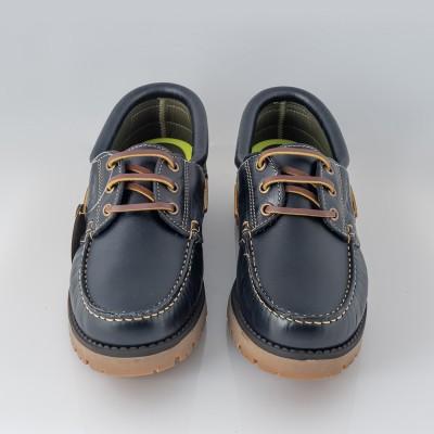 Zapato naútico azul marino cordon Gorila