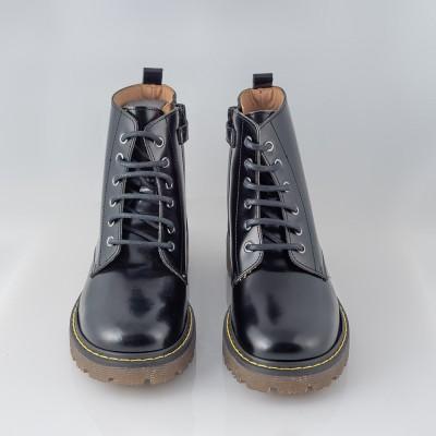 Botín Niña Andanines Piel Tipo Martens Negro