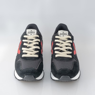 Zapatilla deportiva negro-cordón Mini Massana. Munich
