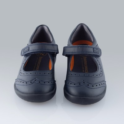 Zapato colegial Biomecanics marino.
