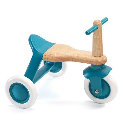 Triciclo correpasillos azul. Djeco.